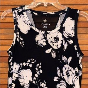 LuLaRoe S Floral Print Rise Strong Tank Top
